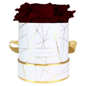 Art Déco Collection Burgundy Small wit – rond