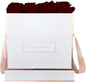The Rosé Gold Collection Burgundy Large wit – vierkant