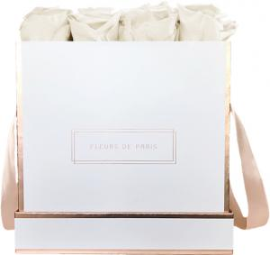 The Rosé Gold Collection Ivory Large wit – vierkant