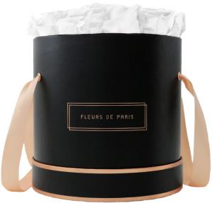 The Rosé Gold Collection Pure White Large zwart – rond