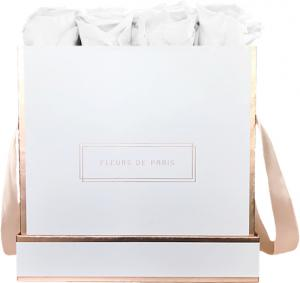 The Rosé Gold Collection Pure White Large wit – vierkant