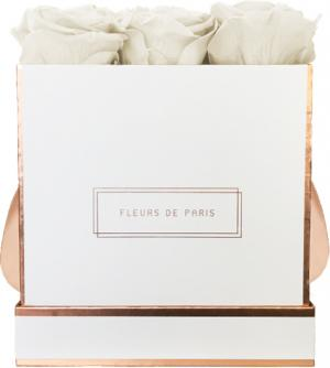 The Rosé Gold Collection Ivory Medium wit – vierkant
