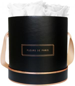 The Rosé Gold Collection Pure White Medium zwart – rond
