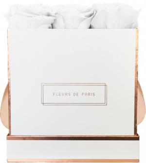 The Rosé Gold Collection Pure White Medium wit – vierkant