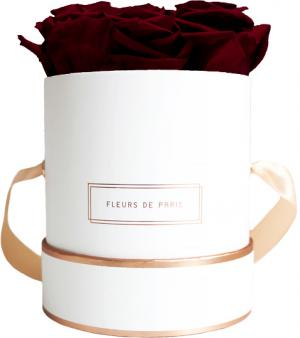 The Rosé Gold Collection Burgundy Small wit – rond
