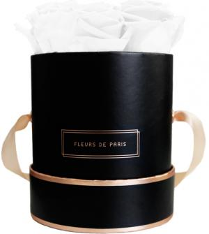 The Rosé Gold Collection Pure White Small zwart – rond